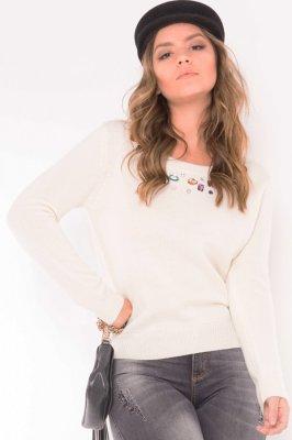 Imagem - Blusa de Tricô com Pedraria