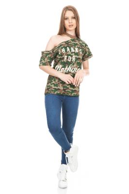 Imagem - Blusa Estampada Assimétrica