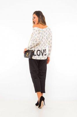 Imagem - Blusa Estampada com Decote V
