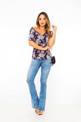 Imagem - Blusa Estampada Decote V