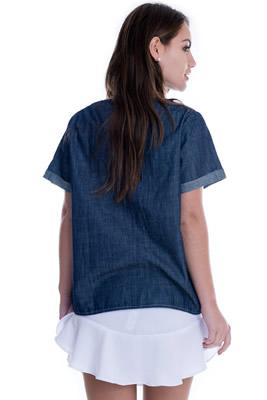 Imagem - Blusa em Jeans com Lettering