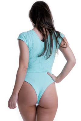 Imagem - Body Jacquard com Decote