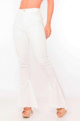 Imagem - Calça Flare Hot Pants com Barra Destroyed