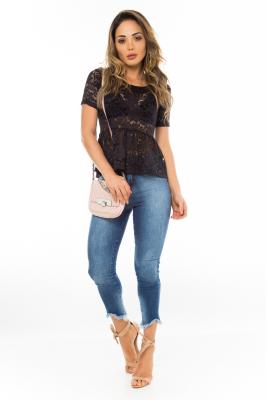 Imagem - Calça Jeans com Barra Irregular