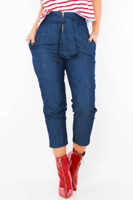 Imagem - Calca Jeans com Zíper e Amarração