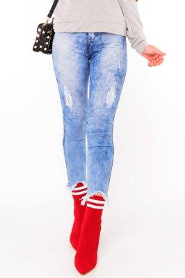 Imagem - Calca Jeans Cropped Barra Destroyed