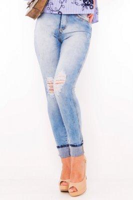 Imagem - Calca Jeans Hot Pants com Puídos