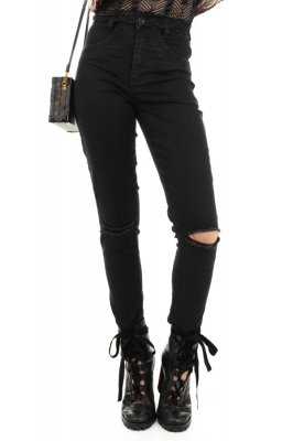 Imagem - Calça Jeans Hot Pants com Rasgo nos Joelhos