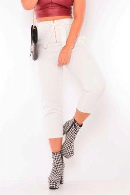 Imagem - Calca jeans hot pants com ziper frontal