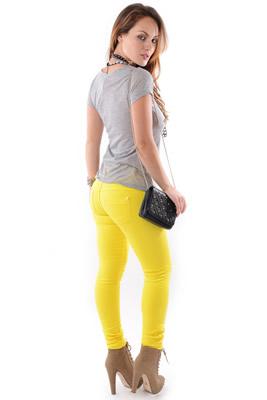 Imagem - Calça Jeans PT Amarela