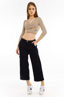 Imagem - Calça Pantacourt em Jeans