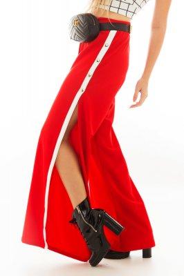 Imagem - Calça Pantalona com Fenda e Listra Lateral