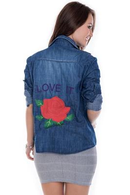 Imagem - Camisa Jeans com Aplique