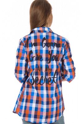 Imagem - Camisa Xadrez com Lettering nas Costas