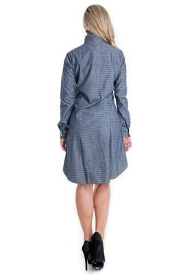 Imagem - Vestido Chemise com Gola Laço