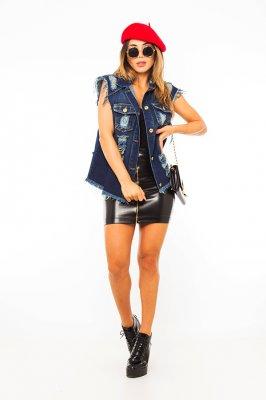 Imagem - Colete Jeans Destroyed