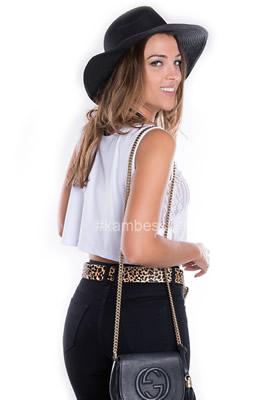 Imagem - Blusa Cropped com Frente de Renda