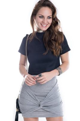 Imagem - Blusa Cropped em Jeans