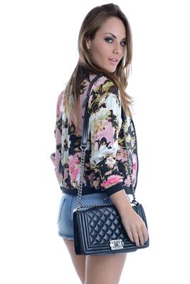 Imagem - Jaqueta Bomber Floral