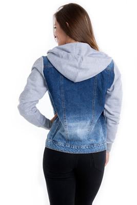 Imagem - Jaqueta Jeans com Capuz