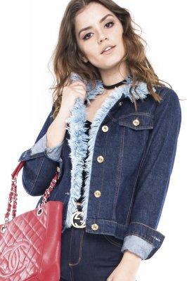 Imagem - Jaqueta Jeans com Detalhe de Pelo