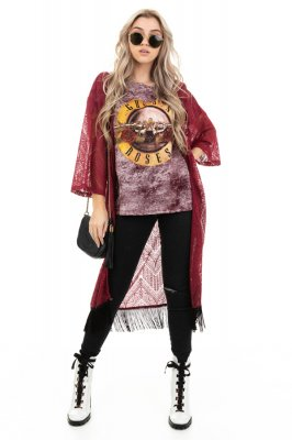 Imagem - Kimono em Renda com Franjas
