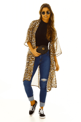 Imagem - Kimono Longo Estampado