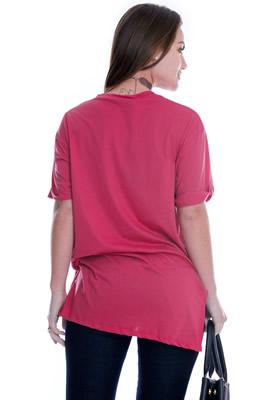 Imagem - Maxi T-shirt com Lettering
