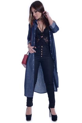 Imagem - Maxi Camisete Jeans