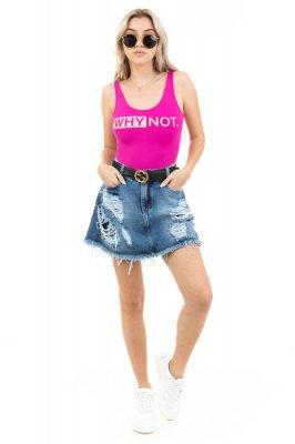 Imagem - Shorts Saia Jeans Destroyed