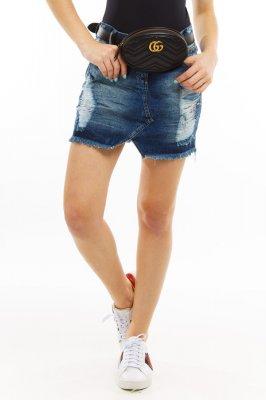 Imagem - Saia Jeans Destroyed com Detalhe Frontal