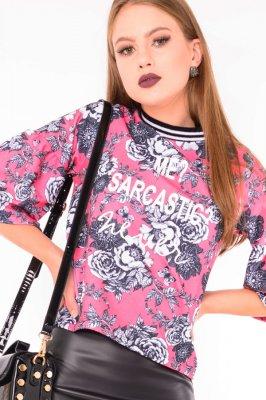 Imagem - Blusa Estampada com Franzido na Manga