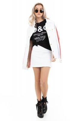 Imagem - Saia Jeans com Listras