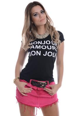 Imagem - Saia  Jeans de Bico
