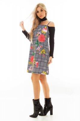 Imagem - Vestido Salopete Estampa Xadrez