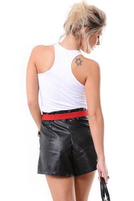 Imagem - Shorts Alfaiataria de Couro