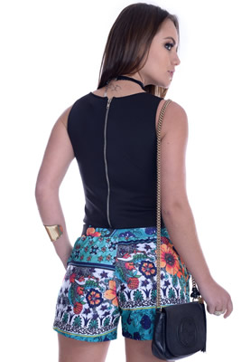 Imagem - Shorts Curto Floral