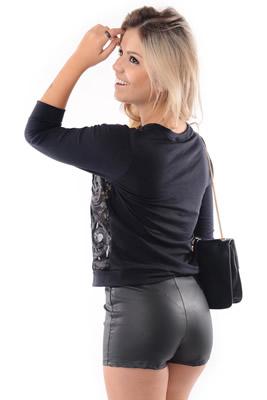 Imagem - Shorts de Courino Cintura Alta