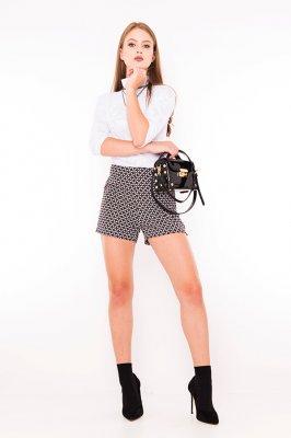 Imagem - Shorts em Crepe Hot Pants Estampado
