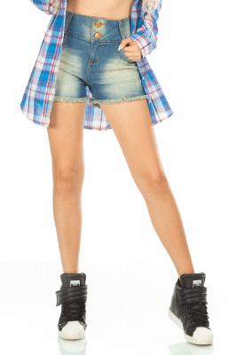 Imagem - Shorts Estonado com Barra Destroyed