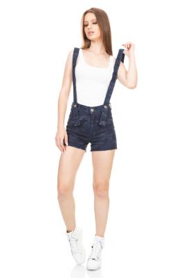 Imagem - Shorts Hot Pants com Suspensórios