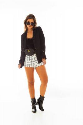 Imagem - Shorts Hot Pants Estampa Xadrez