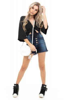 Imagem - Shorts Jeans Hot Pants com Botões