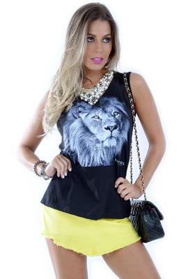 Imagem - Shorts-Saia Jeans