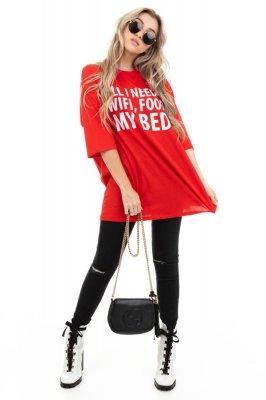 Imagem - T-shirt Ampla com Lettering