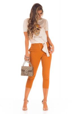 Imagem - T-shirt com Estampa e Amarração