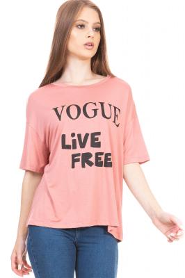 Imagem - T-shirt com Estampa Escrita