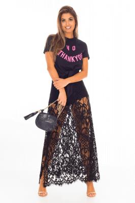 Imagem - T-shirt com Lettering e Amarração