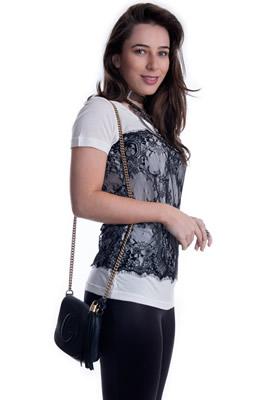 Imagem - T-shirt com Renda