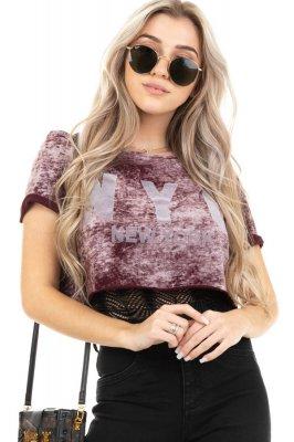 Imagem - T-shirt Cropped Estampada
